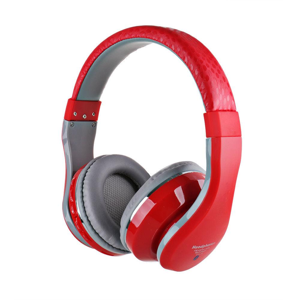 Fm radio wireless earphones - earphones wireless red